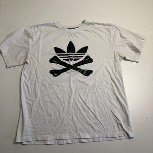 3/30$ Adidas White Black Mens XL T-shirt